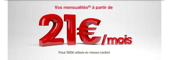 21 euros par mois